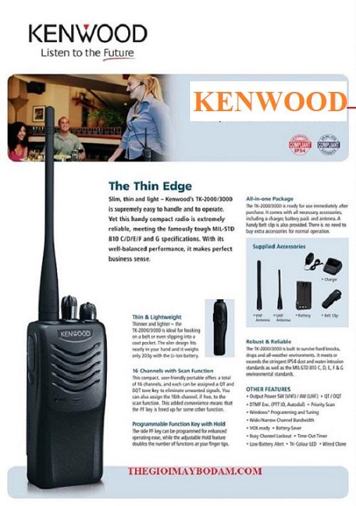 bộ đàm kenwood giá rẻ tại HN